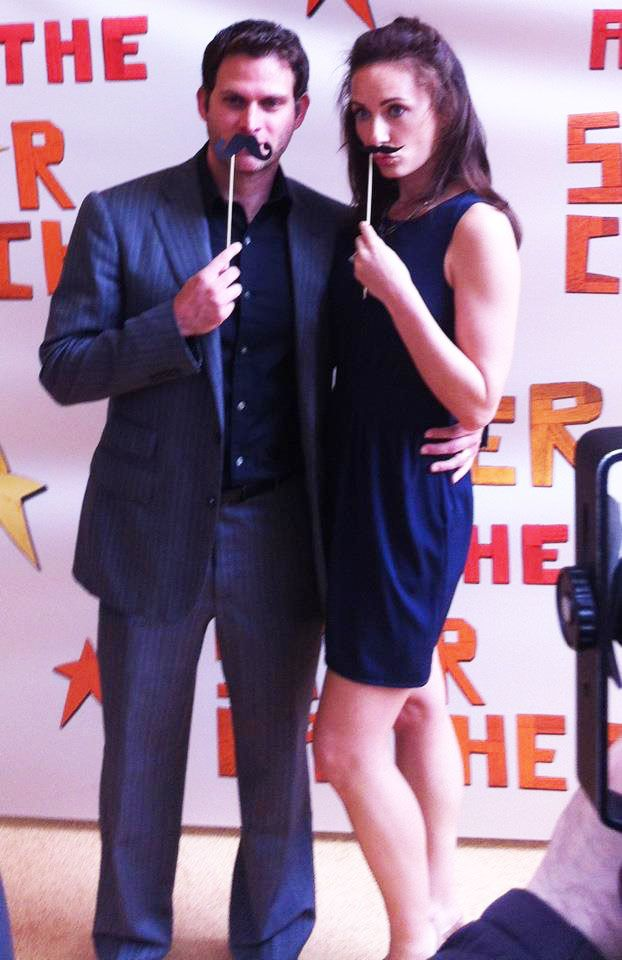 Laura Benanti and Stephen Pasquale stachin' it up on the PATSC red carpet