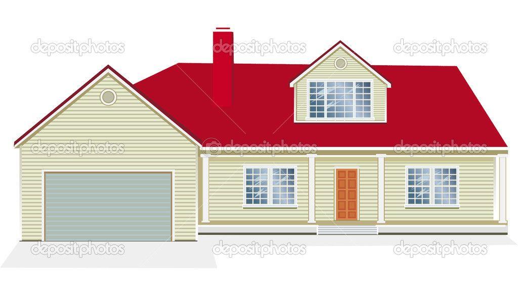 House illustration google search refs vectors for Casa moderna vector