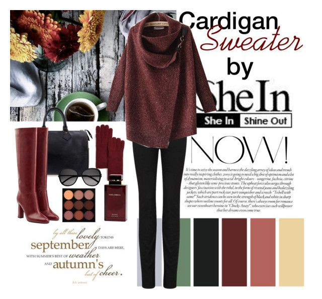 """""""Red Lapel Long Sleeve Ouch Cardigan Sweater"""" by dezaval ❤ liked on Polyvore featuring Louis Vuitton, Tory Burch, Paige Denim, Diane Von Furstenberg, Yves Saint Laurent, Spy Optic, Dolce&Gabbana and MAC Cosmetics"""