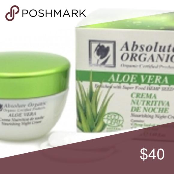 Absolute Organic All Natural Nourishing ALOE VERA Night Cream Yonka Facial Mask (34050)