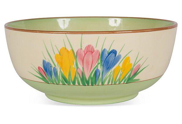Crocus Bowl w/ Green Base on OneKingsLane.com