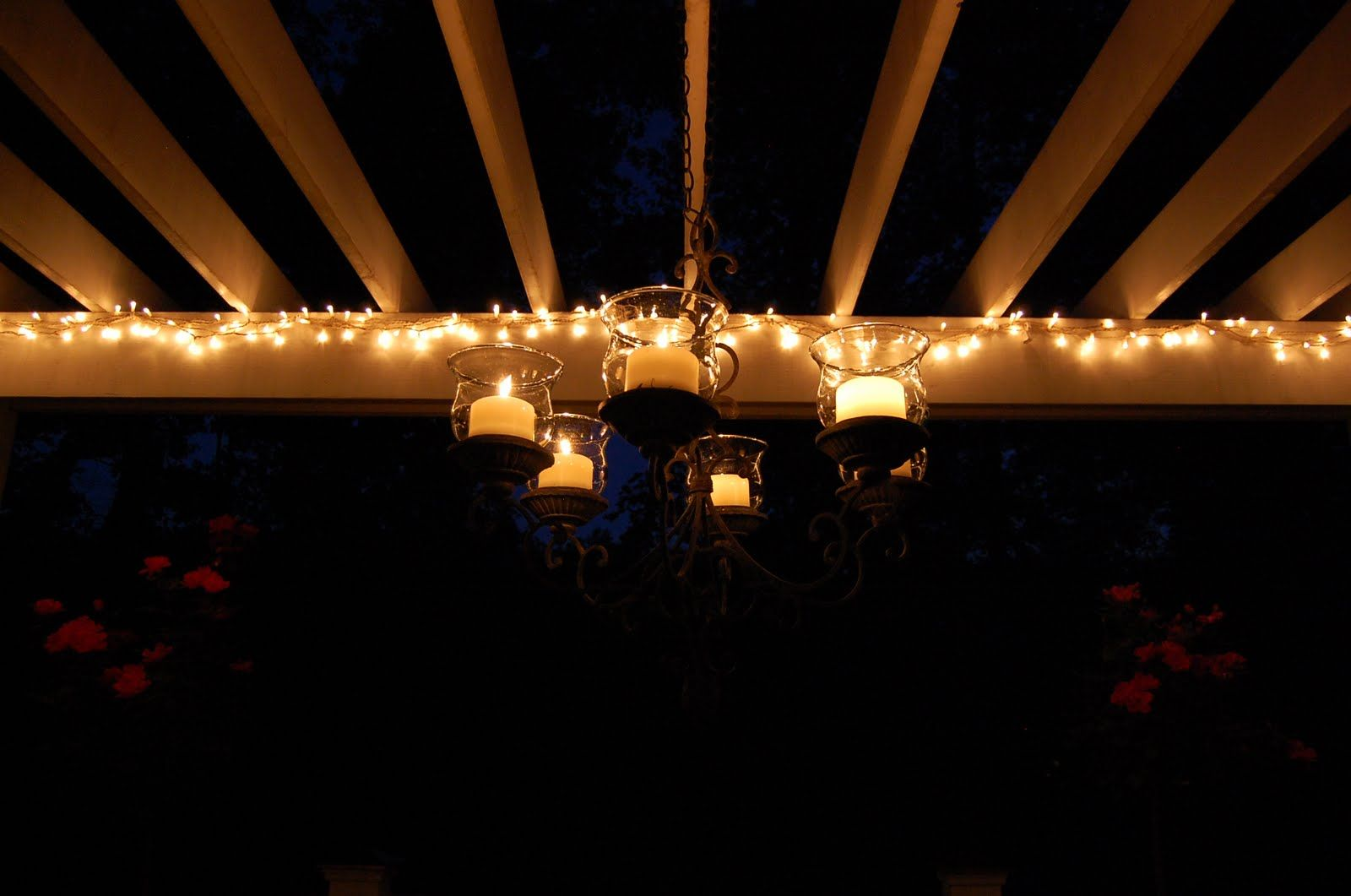 Appealing Outdoor Light With Hanging String : Romantic Caandle Outdoor Patio  Hanging String Lights Ideas