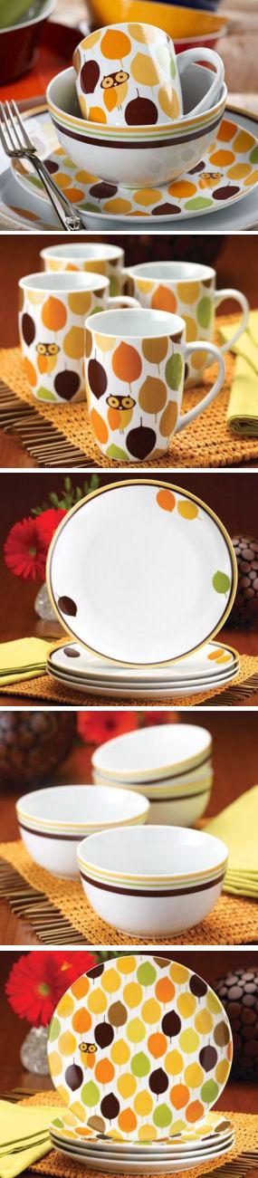 Little Hoot Four-Piece Dinnerware Set | #rachaelray #owl #dishes & Little Hoot Four-Piece Dinnerware Set | #rachaelray #owl #dishes ...