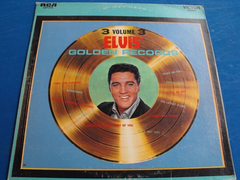"""Elvis Presley """"Elvis' Golden Records Volume 3  LSP-2765 $12.99"""