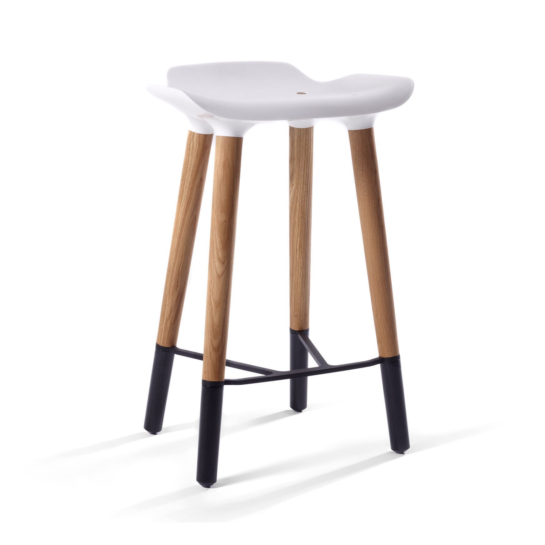 pluto danish modern counter stool with white seat - Modern Counter Stools