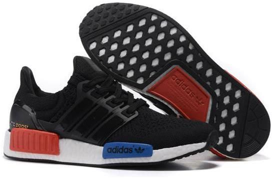 Black � Adidas Ultra Boost NMD Couple running shoes Black blue red0