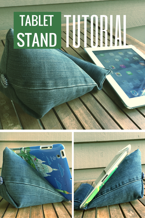 Tablet stand tutorial Sewing tutorials, Diy phone stand