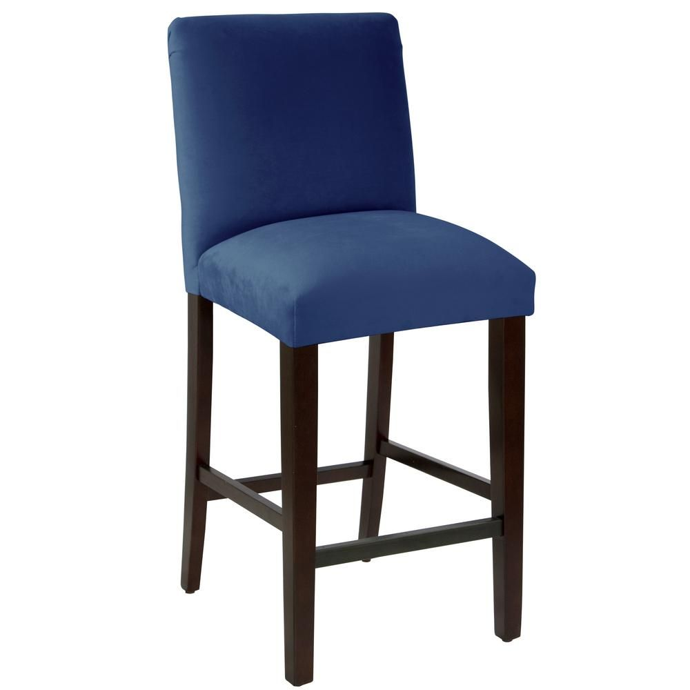 Miraculous Skyline Furniture Velvet Navy Bar Stool With Diamond Tufted Caraccident5 Cool Chair Designs And Ideas Caraccident5Info