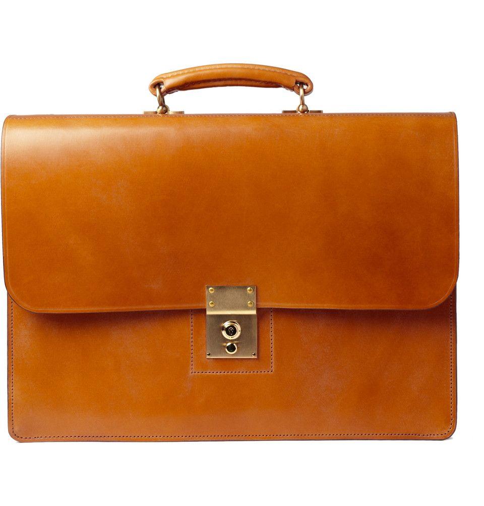 All Men need a briefcase. Swaine Adeney Brigg briefcase in tan ...