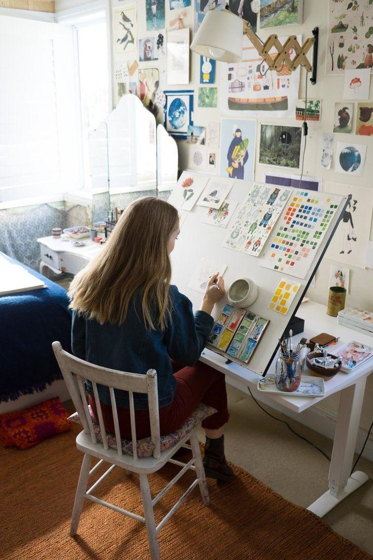 Photo of In the Studio with Illustrator Chloe Jasmine Harris   Christie Moore Photography