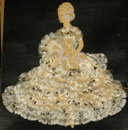 Satin Figure of Woman Paper Doll