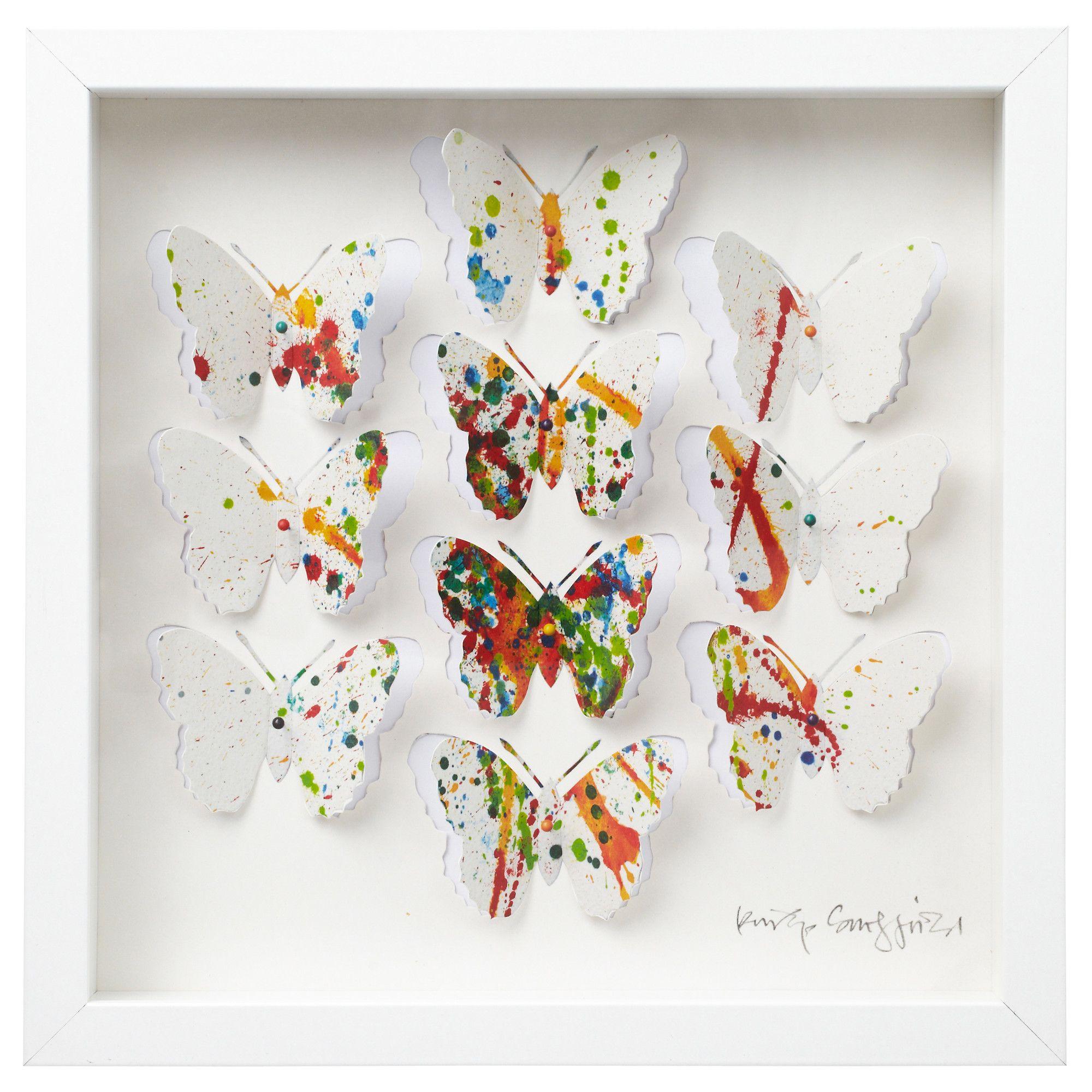OLUNDA Bild mit Rahmen - IKEA | Butterfly - Schmetterling ...