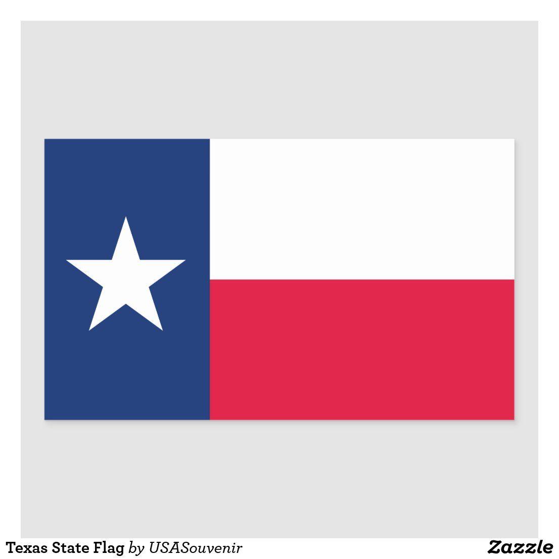 Texas State Flag Rectangular Sticker Zazzle Com In 2020 State Flags Texas State Flag Work Stickers