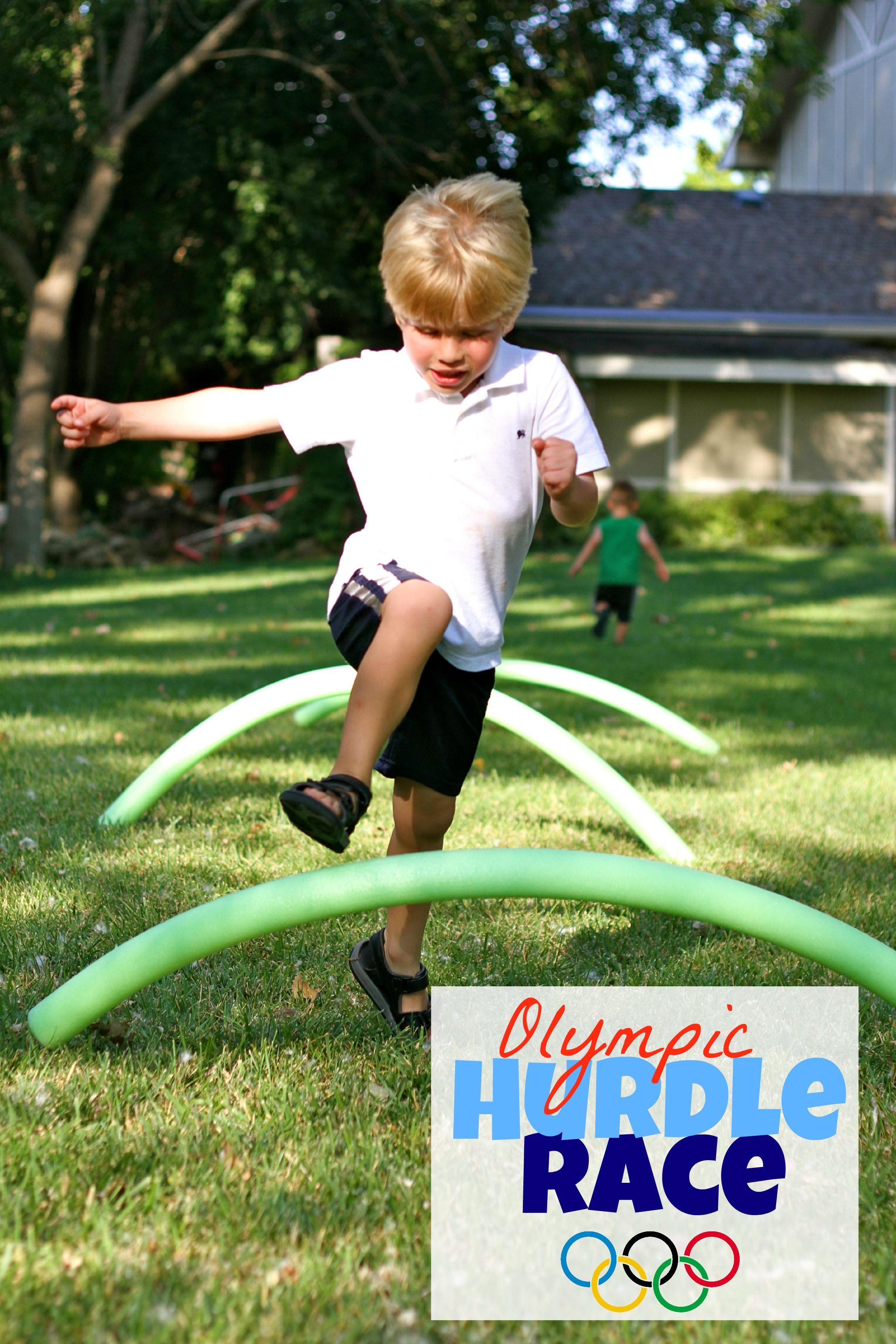 Hurdle run i can teach my child kids olympics