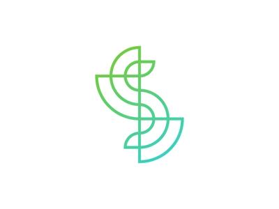 s line art letter mark logo design symbol symbols. Black Bedroom Furniture Sets. Home Design Ideas