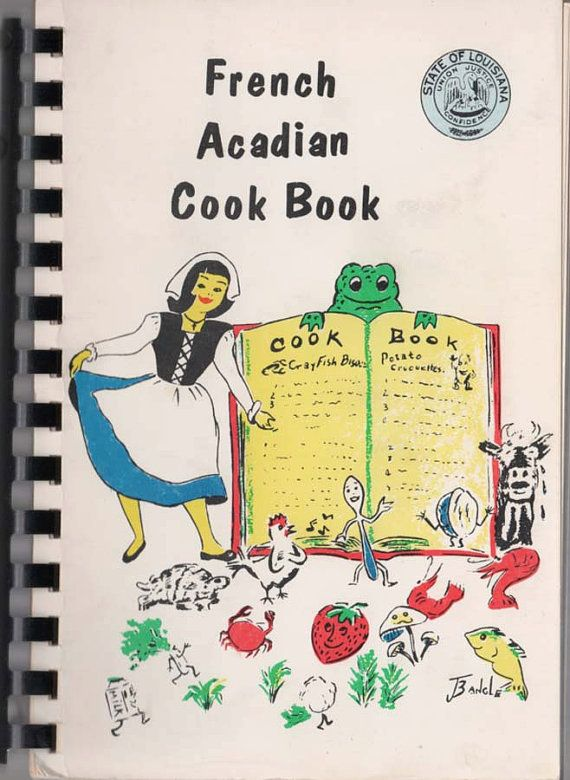 1955 French Acadian Cook Book Jennings Louisiana by superimposium