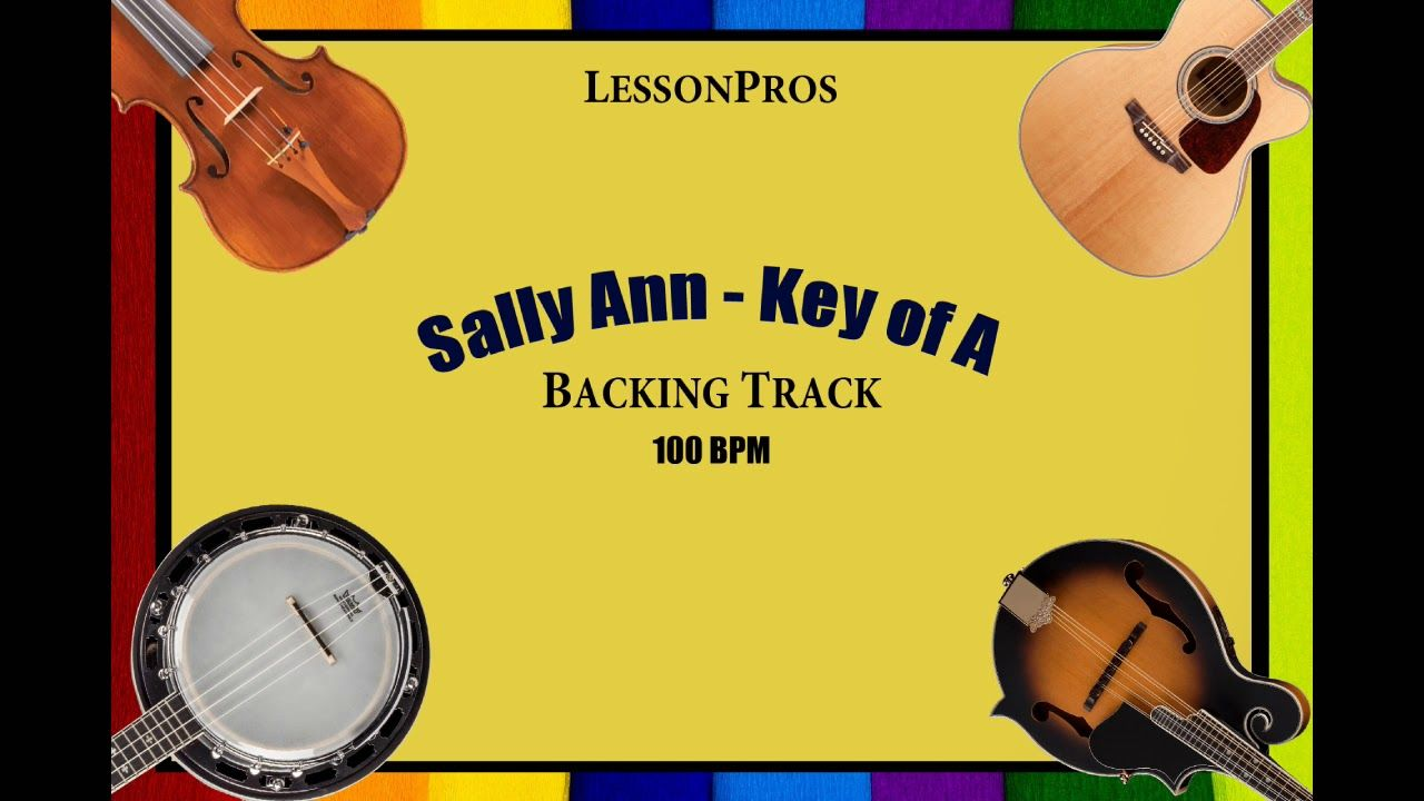 Sally Ann Bluegrass Backing Track 100 BPM YouTube in