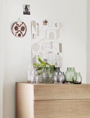Silent - Modern Scandinavian Design Glass Vase by Muuto