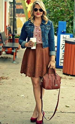 In-jean-ious: The Quintessential Fall Look | Leather skirts