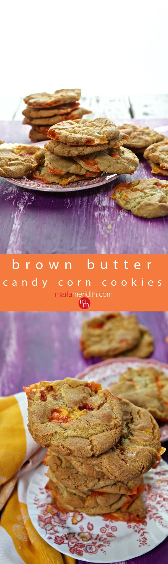 Brown Butter Candy Corn Cookies - Marla Meridith