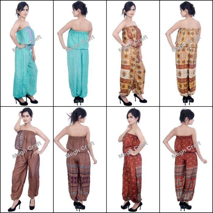 cc7f51bd7f5 Indian Silk jumpsuit   Fashion Wear Jumpsuit Silk Romper Jumpsuit ...