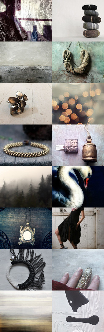 Seaside Stones and Mist by Niya Lee on Etsy--Pinned with TreasuryPin.com