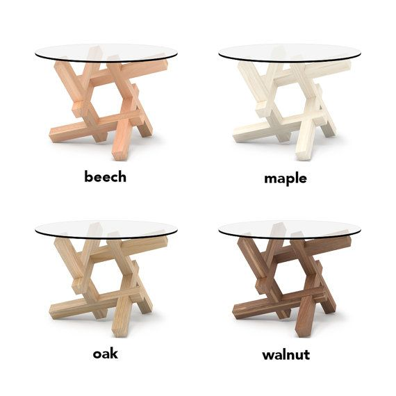 2x3 Round Wooden Coffee Table Puzzle Round Glass Table Round