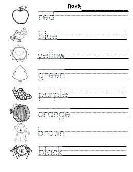 Color Practice Pdf Google Drive Kindergarten Writing Kindergarten Colors Handwriting Practice Free
