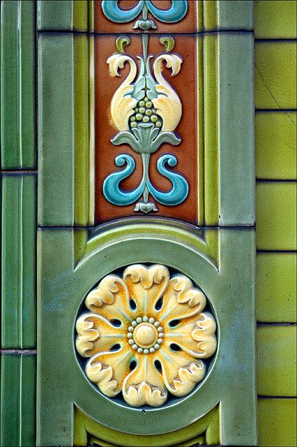 Tiles on The Peveril of the Peak, Chepstow Street Manchester.