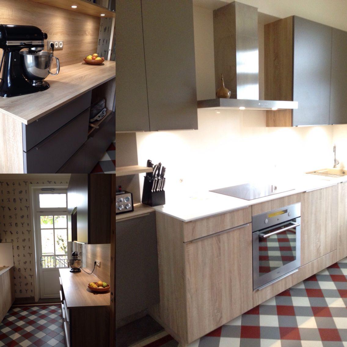 cuisine bois taupe affordable trendy cuisine bois clair. Black Bedroom Furniture Sets. Home Design Ideas