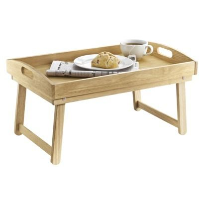 Room Essentials Rubberwood Bed Tray with Folding Legs