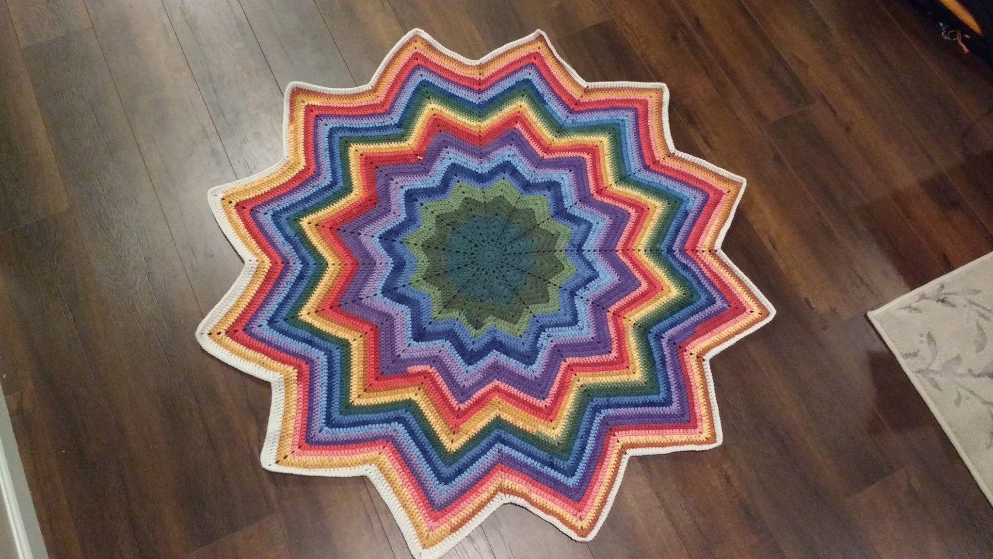 Crochet Star Blanket using Caron Cakes yarn to make rainbow | ideas ...