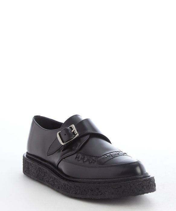 6fbed951527 Saint Laurent black leather bucklestrap loafers | S h o e S | Saint ...