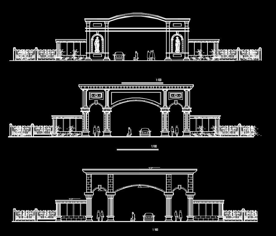 Architectural decorative blocks CAD Design Free CAD Blocks