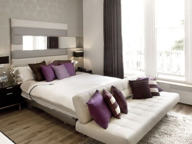 Master Bedroom Idea S Purple Accents Color Accents And Decorating