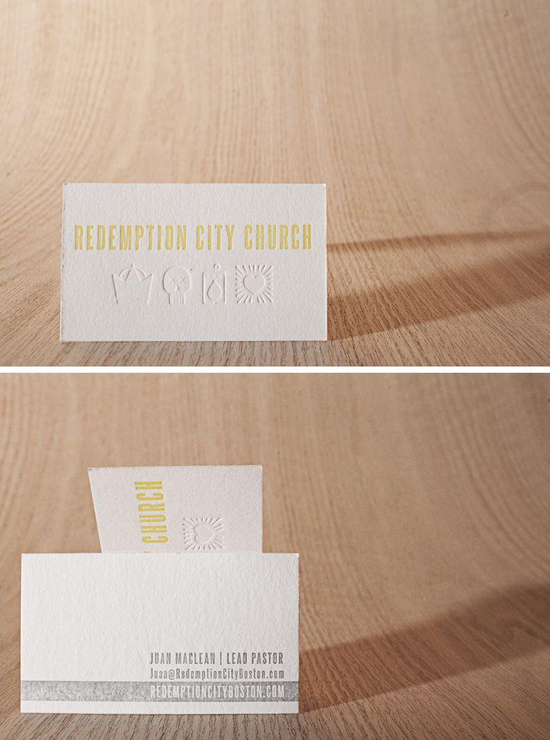 Redemption City Letterpress Business Cards By Themattnovak Via