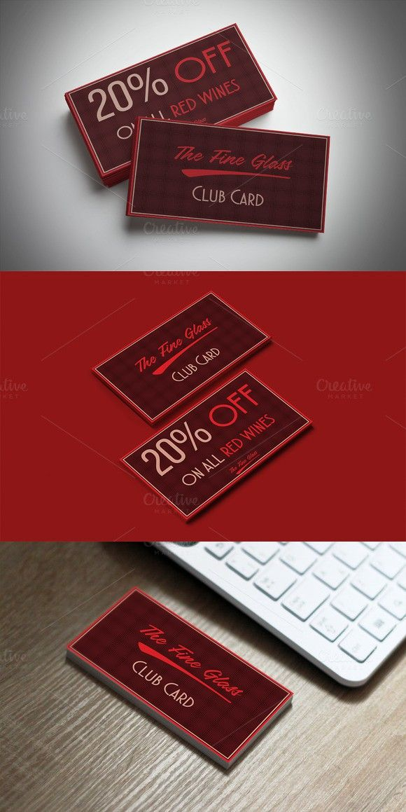 Classy Bordeaux Discount Card | Pinterest | Card templates, Template ...
