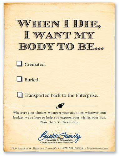 Portfolio Funeral Jokes Humor In Advertising Funeral
