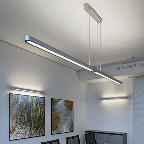 cable suspension mounted luminaires for direct and indirect