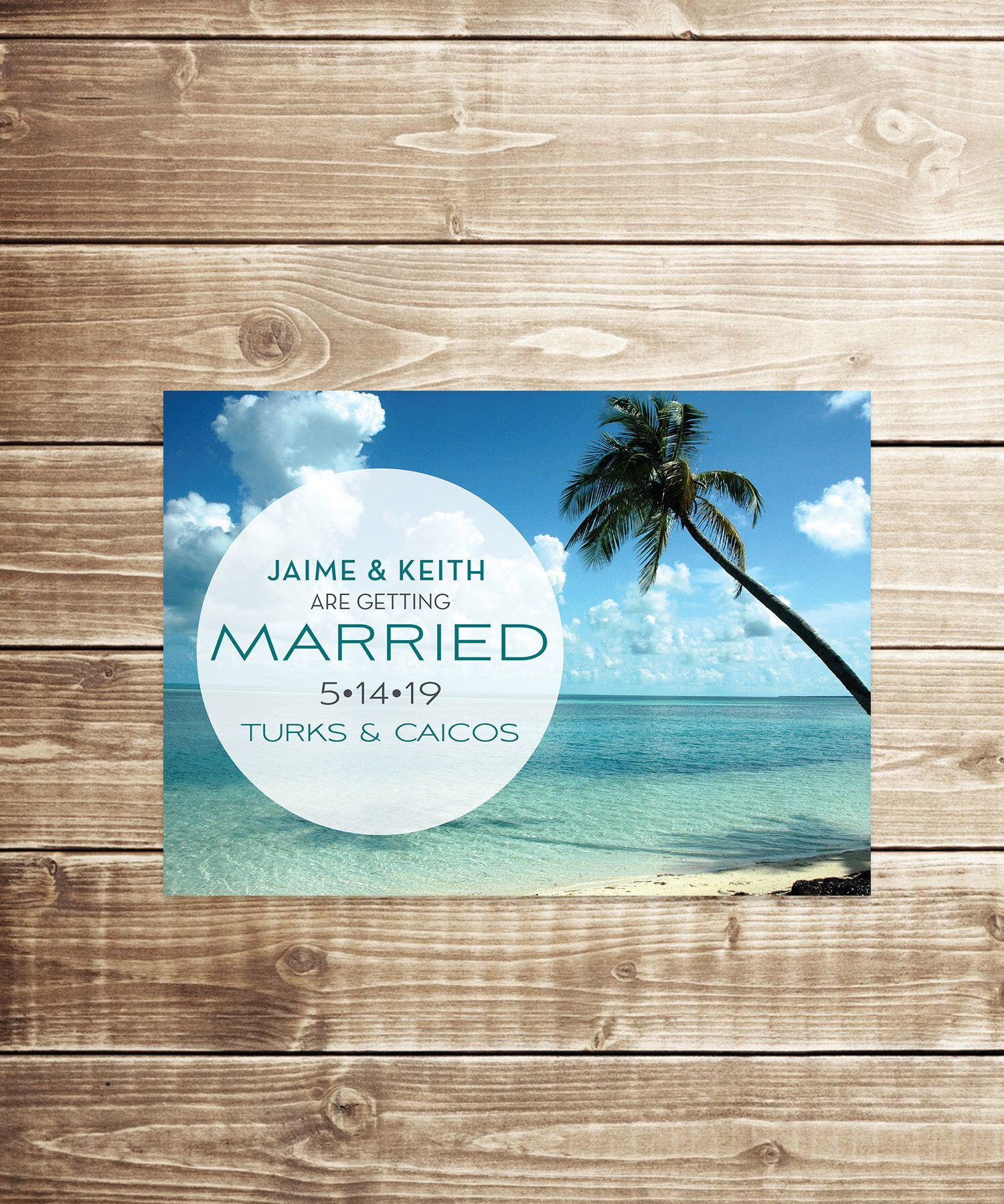 Modern Tropical Wedding Save the Date
