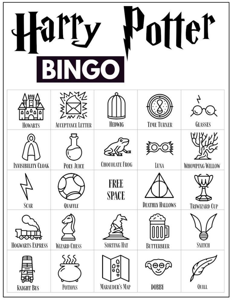 Free Printable Harry Potter Bingo Game | Harry potter ...