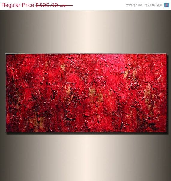 Abstract Painting Original Red Contemporary By Newwaveartgallery 400 00 Abstract Painting Abstract Canvas Painting Colorful Canvas Art