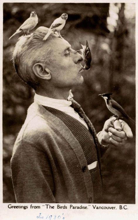 "1bohemian:  Charles E Jones, known as the ""Birdman of Vancouver."" (1930s)"