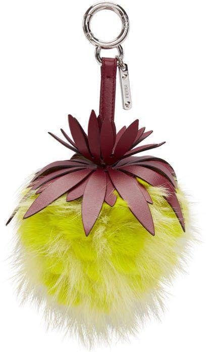 Pink Fur Pineapple Keychain Fendi LbZmCL