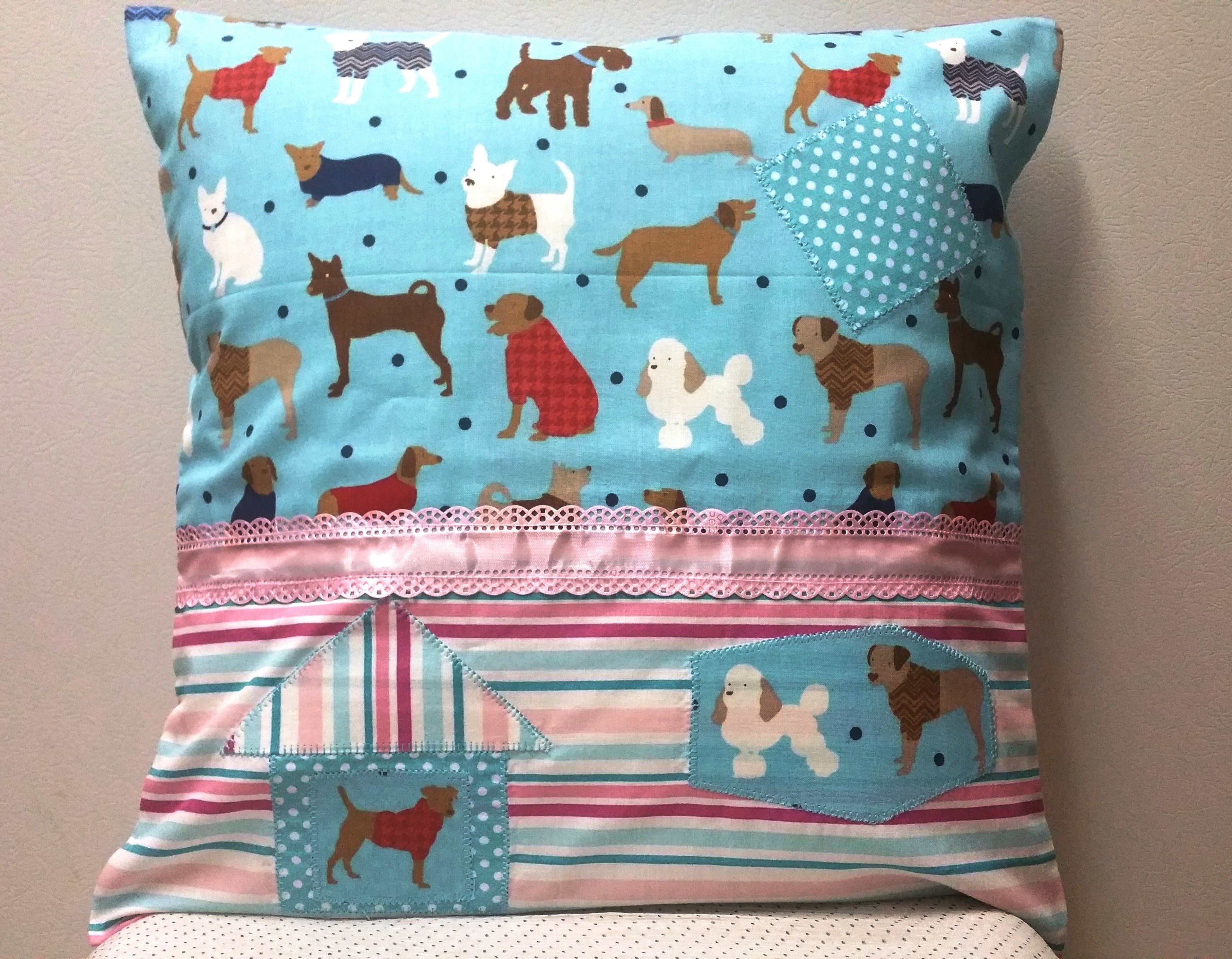 Baby pillow case Funny  Doggies