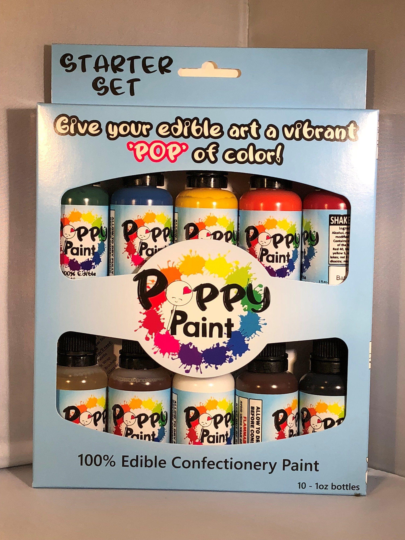 Poppy Paint Starter Set Confectionery, Gum paste, Edible art