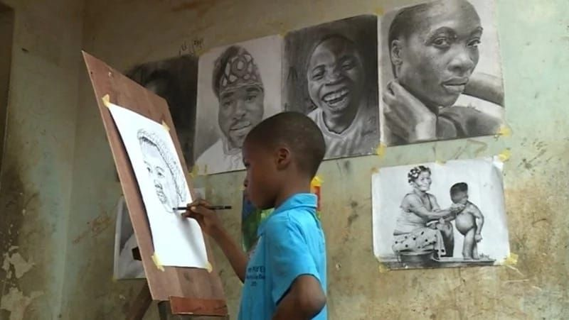Kareem Waris Olamilekan: 11-year-old Nigerian artist is gaining