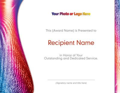 Ferric Modern Certificates By Paperdirect Employee Recognition Invitation Paper Stationery Paper