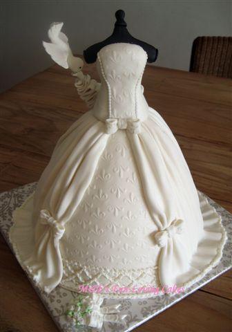 tarta vestido de novia   novios   pinterest   novios fondant