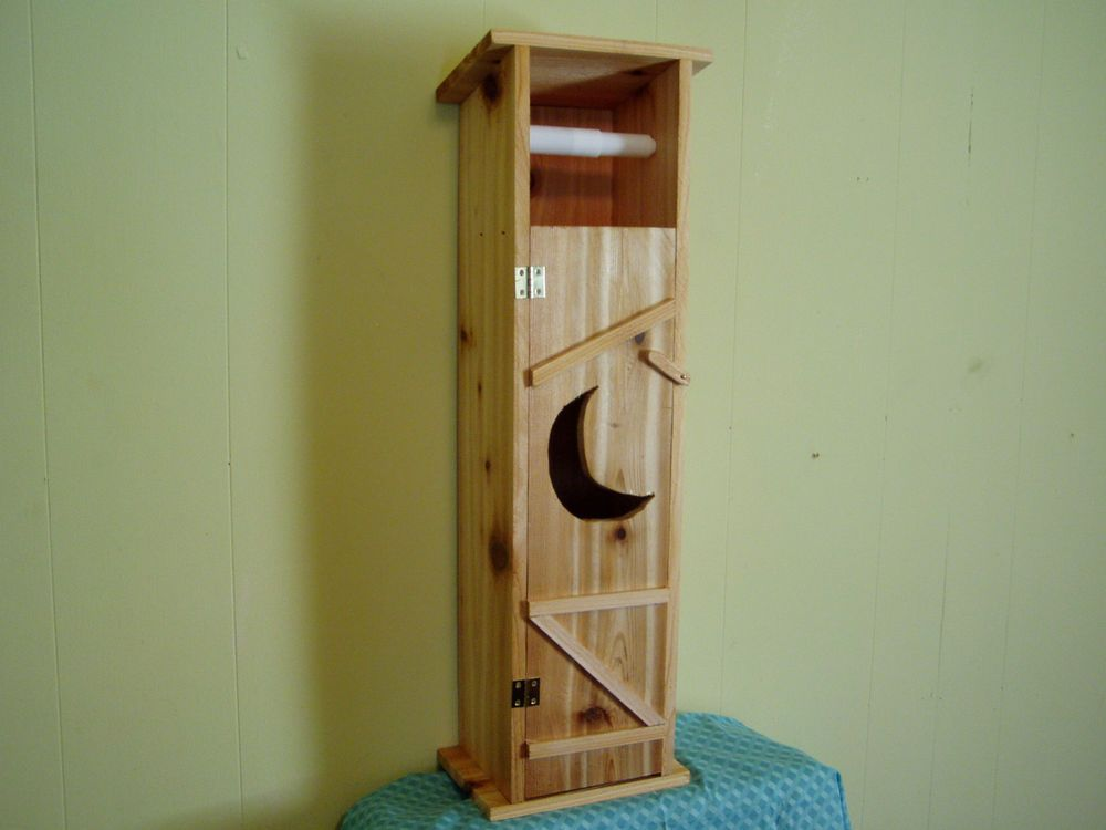 Handmade Cedar Wood Outhouse Toilet Tissue Paper Holder | Toilet paper holders, Toilet and ...